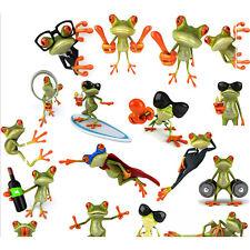 3D Cartoon Frog Car Truck Window Decoration Decal Sticker Pattern Random P&L