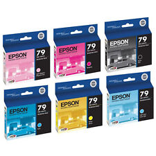 Epson 79 Ink 6 pack Set for Artisan Stylus Photo 1400, 1430 printers