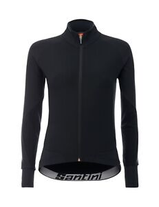 Women's Beta Winter Windstopper Cycling Jacket -Black -Made in Italy by Santini
