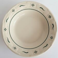 """Longaberger Pottery Rim Soup Bowl Heritage Green Woven Traditions Usa 8 1/8"""""""