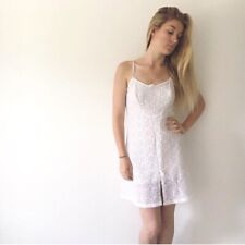 Vintage White Lace Slip Dress Nightie Lingerie 6 8 10 Pippa Dee