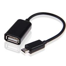 CAVO ADATTATORE OTG 2.0 MICRO USB 5 PIN MASCHIO a USB FEMMINA TABLET CELLULARI
