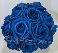 100 Real Touch Roses~Wedding Bridal Bouquet Decor Artificial Flower Wholesale 3""