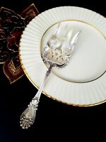 "Antique Sterling Silver Pierced Fork .925 WATSON NEWELL & CO 7 5/8"" BEAD 1890"