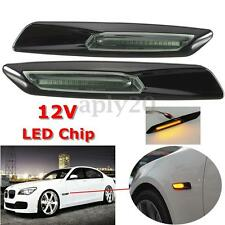 LED Side Marker Light Amber For BMW E60 E82 E87 E88 E90 Smoke Len F10 Style US