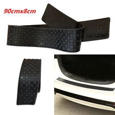 Black Lattice Door Sill Guard Bumper Protection Strip Trim Cover for Car Trunk
