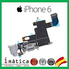 CONECTOR CARGA iPHONE 6 4.7 GRIS CLARO POWER JACK AURICULAR MICROFONO FLEX DOCK