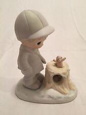 "NEW Precious Moments ""WISHING YOU A COZY SEASON"" Figurine, #521949, 1989"