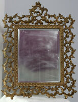 """Antique Ornate Mirrow or Picture Frame 17.5"""" by 13 3/8"""""""