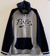 Polo Ralph Lauren Mens Gray Blue POLO Hoodie Sweat Jacket NWT Size 2XL XXL