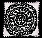 Embroidery Black and White Suzani Pillow Cases Cotton 16X16 Cushion Cover Sham