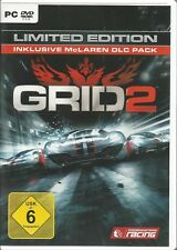 GRID 2 Limited Edition (PC, 2013, DVD-BOX) senza istruzioni, con Steam Key Codice