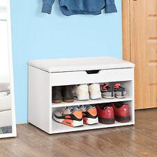 Sobuy Banc de Rangement Armoire À Chaussures Coussin Meuble D'entrée Fsr25-w FR