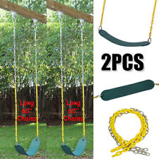 "2Pack Swing Seat Heavy Duty 60"" Chain Plastic Coated Kids Playground Accessories"
