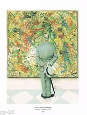 """Norman Rockwell Jackson Pollock print """"THE CONNOISSEUR"""" / """"ABSTRACT AND CONCRETE"""