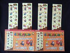 SUPER MARIO Greeting Stamp Sheet x 4 Set Nintendo Limit. Edit. on Sale 6/28/17'