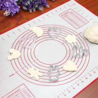 Silicone Baking Mat Soft Cutting Board Dough Rolling Pastry Fondant Kitchen Tool