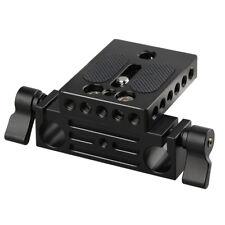 CAMVATE DSLR Camera Baseplate with 15mm Railblock for DSLR Camera shoulder Rig
