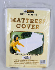 Twin Mattress Cover White Fitted Plastic Protector