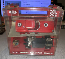 Vintage IDEAL MOTORIFIC Racing Cars Slot Car With Case 1967