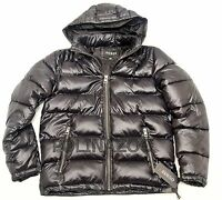 1 GUESS Basic Puffer Jacket Black Winter Hooded Coat 2018 NEW 100% Original