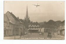 Postcard Thaxted Town Street and Guild Hall Real Photo (with damage)  (A35)