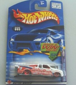 CHEVY PRO STOCK TRUCK #5 - BABY RUTH COLORS - HW2002 COLLECTOR #095 - 1:64 SCALE