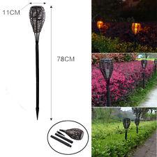 Outdoor Led Solar Power Rattan Torch Light Landscape Lawn Garden Path Pin Lamp