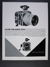1963 Hasselblad Super Wide C Camera with Zeiss Biogon Lens vintage print Ad