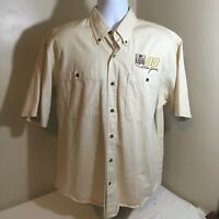 Chase Authentics Mens NASCAR #88 Dale Jarrett UPS Large 100% Cotton Beige FS!