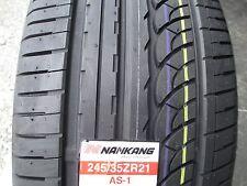 2 New 245/35ZR21 Inch Nankang AS-1 Tires 245 35 21 R21 2453521 35R