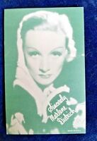 MARLENA DIETRICH Arcade Exhibit Card 1940's RARE ARCADE CARD