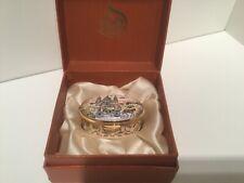 Staffordshire Enamel Prince Charles & Lady Diana Royal WeddingTrinket Box1981