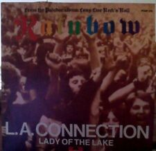 """Rainbow L.A. Connection / Lady of the lake black vinyl 7"""""""