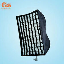 Photography 60 x 90cm Umbrella Rectangle Softbox with Grid For SpeedLight/Flash