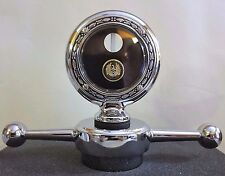 "Peerless Wing Boyce Senior Motometer 3-3/8"" & Dogbone Radiator Cap Chrome"