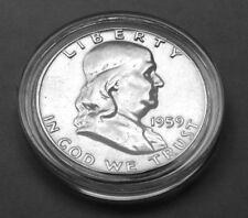 1959  FRANKLIN  EF HALF DOLLAR COLLECTIBLE COINS GIFT IDEA P62