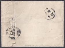 GERMANY 1856 SPADEA TO FRANKFURT ON FOLDED STAMPLESS LETTER