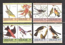 ISLAS UNIÓN (SAN VICENTE-GRANADINAS)Bicentenario de Audubon.AVES. Serie Completa