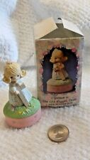 1990 Precious Moments I BELIEVE IN THE OLD RUGGED CROSS - MINI ROSARY BOX w/ Box