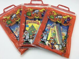 3 Packs of Colouring Christmas Books and 4 Colouring Pens Set 51