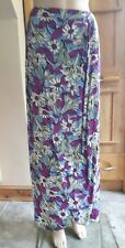 1930s Silk Crepe Sarong Maxi Skirt Waist 30 inches