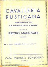 SC14 SPARTITO Cavalleria Rusticana Preludio e Siciliana 613 P. Mascagni