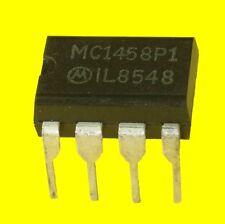 4x MC1458P1 CIRCUIT INTEGRE MOTOROLA DOUBLE AMPLI OP BOITIER DIP 8br lot de 4 CI