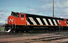 Canadian National 2111, Gordon Yard in Moncton, N.B. --- Railroad Train Postcard