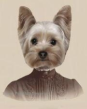 Victorian Yorkshire Terrier Art Print 8 x 10 - Yorkie Dog - Altered Art Surreal