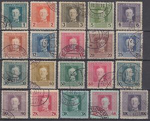 Österreich Feldpost Mi.Nr. 53-72 gestempelt Mi.Wert 70 € (1232)