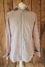 Mens Ted Baker Shirt Multi Stripe Pink Blue Endurance 15.5 Collar 42 Chest
