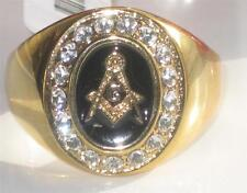 Cubic Zirconia Yellow Gold Rings for Men
