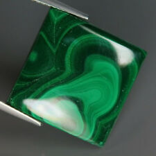 20.01 Carats Natural MALACHITE Square Cabochon for Jewelry Setting Nice Design